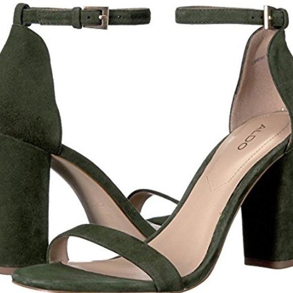 850f9e64dbae Aldo Shoes - Aldo Myly Dress Sandal - Green Suede